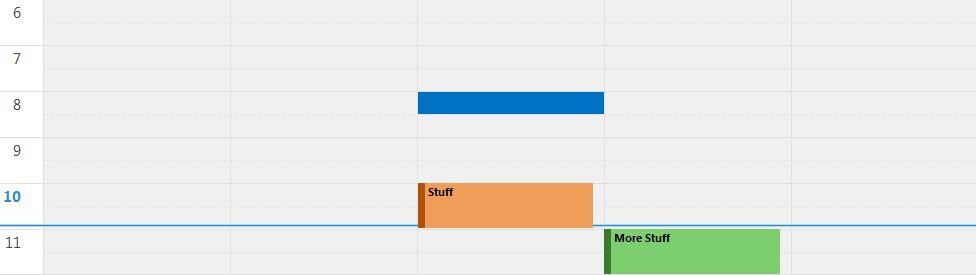 Outlook 2013 Calendar View Color Scheme