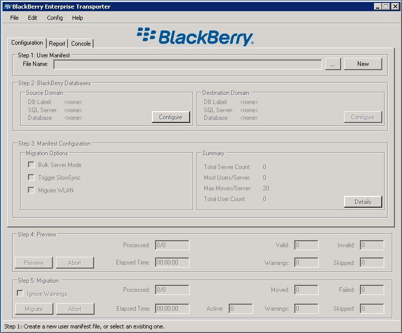 Blackberry Enterprise Transport Tool