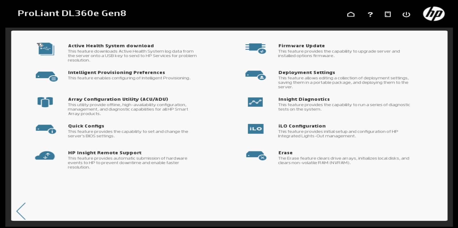 HP Intelligent Provising Maintenance Tasks