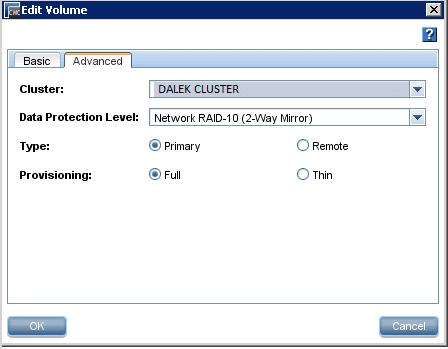 HP CMC - Setting LUN as Network RAID 10