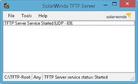 SolarWinds TFTP Server - Main Screen