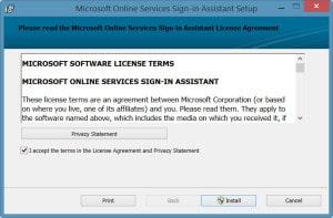 Online Services Sign-in Assistant Setup-2