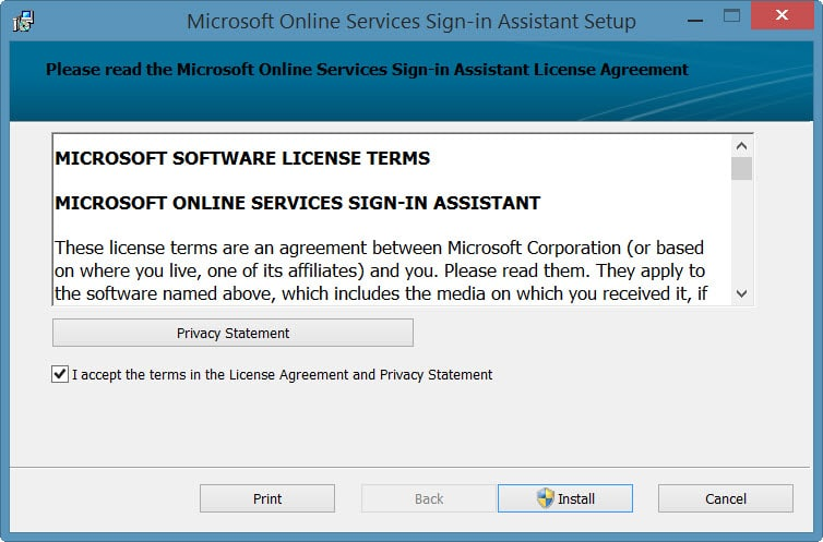 Online Services Sign-in Assistant Setup-2