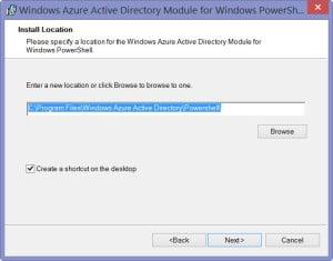 Windows Azure Active Directory Module for Windows PowerShell - 3