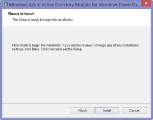 Windows Azure Active Directory Module for Windows PowerShell - 4