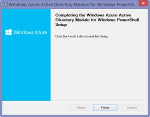 WIndows Azure Active Directory Module for Windows PowerShell - 5