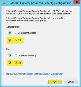 Internet Explorer Enhanced Security Configuration Properties