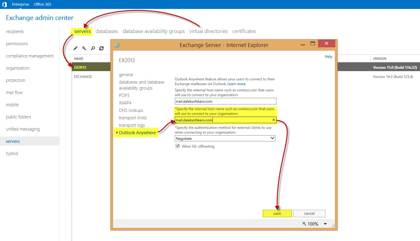 Designing A Simple Namespace For Exchange 2013