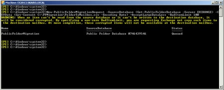 Migrate Public Folders from Exchange 2010 to 2013 New-PublicFolderMigrationRequest