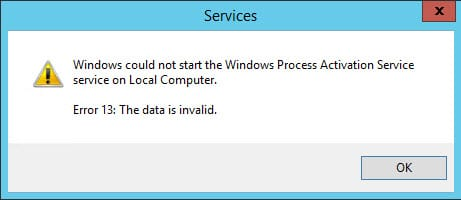 Windows Process Activation Service error 5 – Access Denied