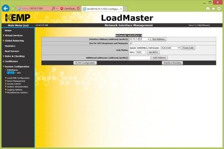 Kemp Load Balancer Changing IP