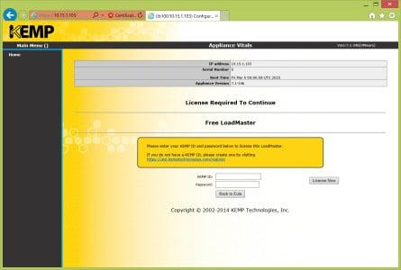 Kemp Load Balancer License