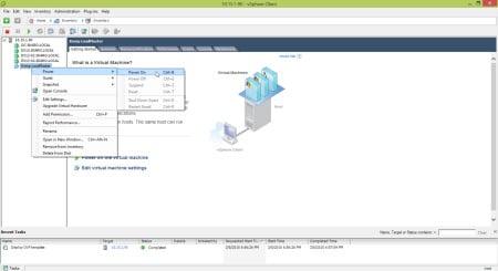 Kemp Virtual Load Balancer Power On
