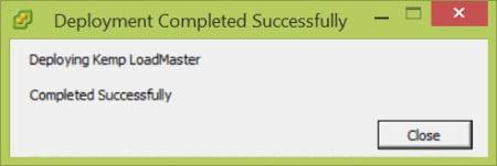 VSphere Client Deploy OVF Success