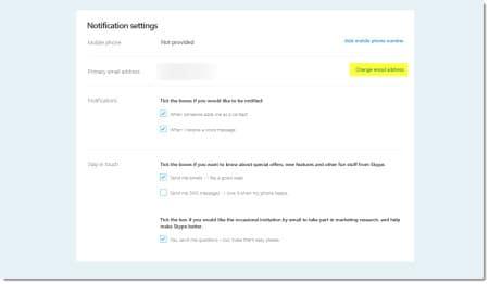 Skype Change Primary Email Address C