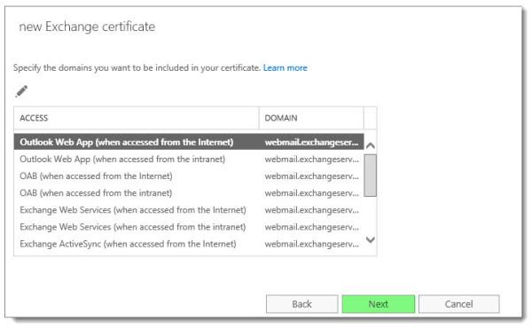 Generate a Certificate Request in Exchange 2016 F