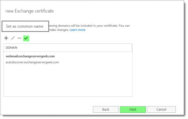 Generate a Certificate Request in Exchange 2016 H