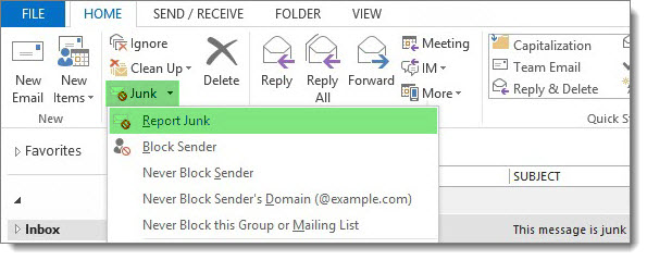 Microsoft Junk Email Reporting Add-In for Microsoft Outlook B