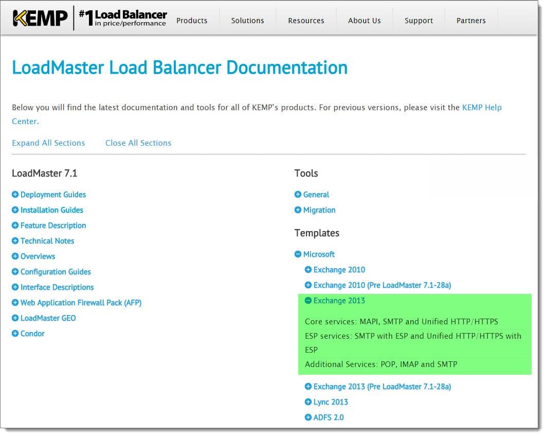 Configure Kemp Load Balancer for Exchange 2016