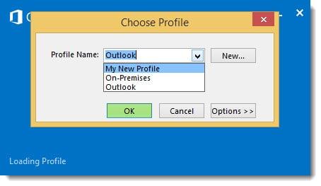 Outlook Select Profile