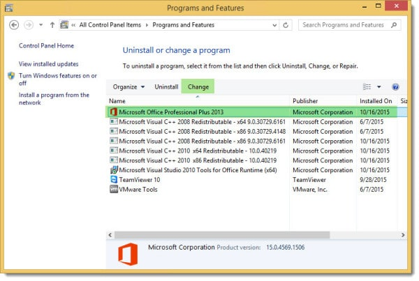 Program and Feature Office Change