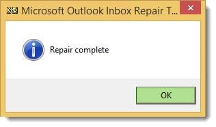 ScanPST Repair Complete