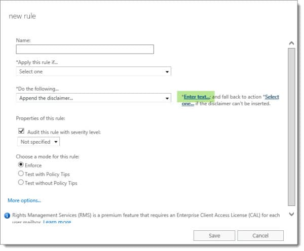 Apply a disclaimer in Exchange 2013 2016 Office 365