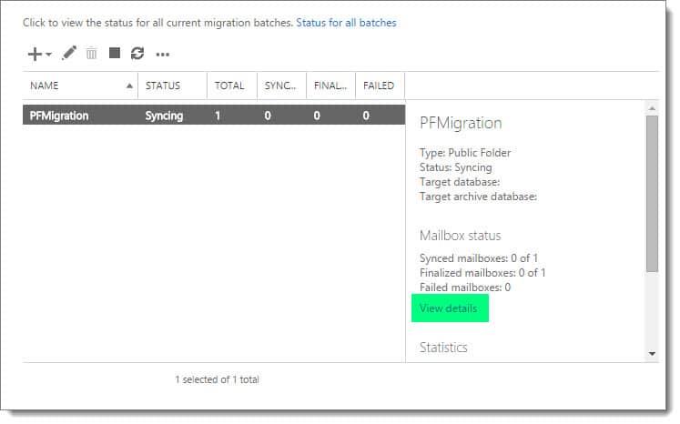 Exchange 2016: Public Folder migration (Part 2)