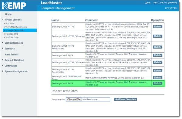 Kemp Load Balancer Import SMTP Template 2Kemp Load Balancer Import SMTP Template 2