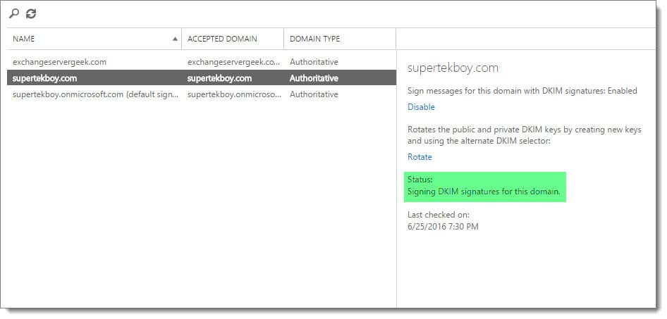 Enable explicit DKIM signing in Office 365 - SuperTekBoy