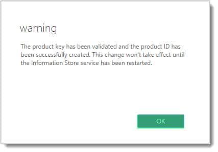 Exchange Admin Center Product Key Warning