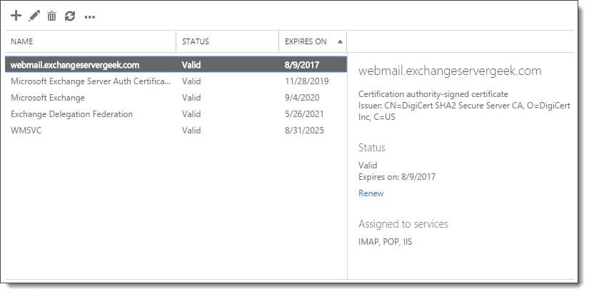 Renew a Certificate in Exchange - SuperTekBoy