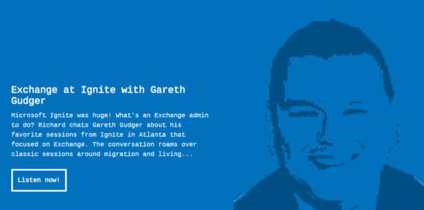 Gareth on Runas Radio #504 - Favorite Exchange Sessions From Microsoft Ignite