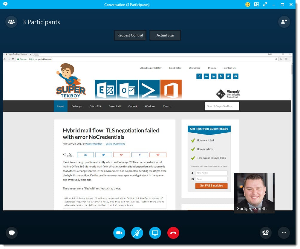 Changing the meeting layout in Skype for Business - SuperTekBoy
