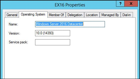 Active Directory Users and Computers Operating System