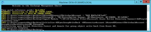 Group Writeback Script Azure AD Connect