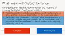 Running Exchange hybrid over the long term Microsoft Ignite