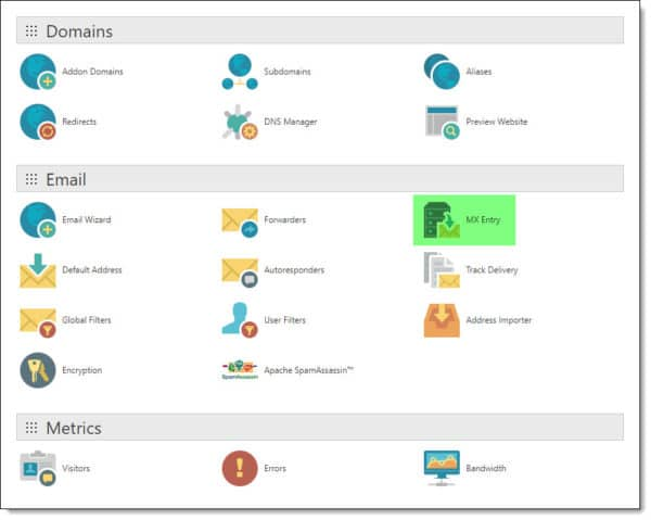 cPanel MX Entry Autodiscover