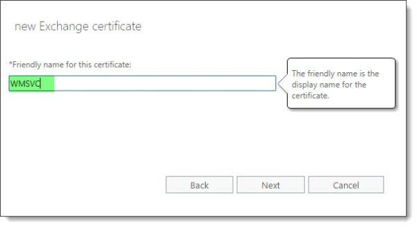 Recreate the WMSvc certificate B